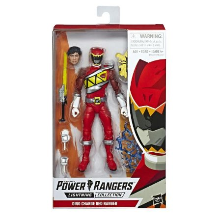 Power Rangers Dino Charge Lightning Collection Red Ranger Pronta entrega