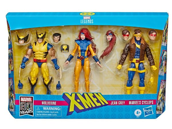 Marvel Comics 80th Anniversary Marvel Legends X-Men Three-Pack PRONTA ENTREGA