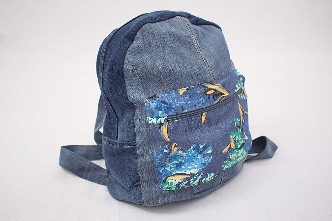 faa0f7169 Bolsa Jeans Upcycling - Achados Brechó