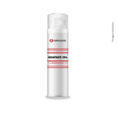 Hexatrate 15% (Desodorante e Antitranspirante para Bromidrose)