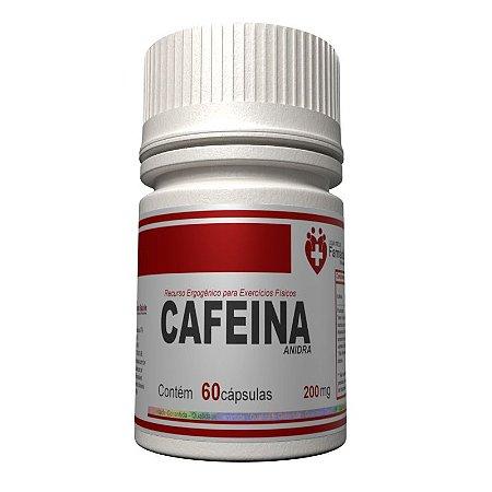 Cafeína Anidra 200mg 60 cápsulas