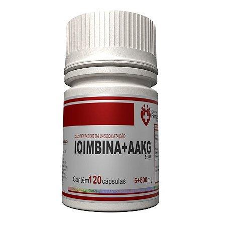 Ioimbina 5MG AAKG 500mg 120 cápsulas Vasodilatador sustentador