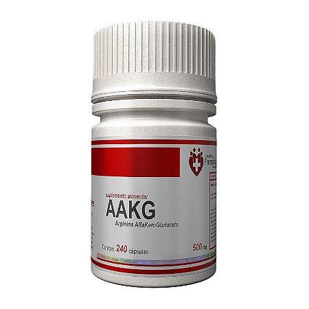 AAKG Arginina 500mg 240 cápsulas - Aminorácido