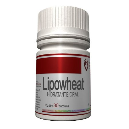 Lipowheat 350mg - Hidratante Oral em Cápsulas Vegetais