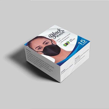 Mascara Tecido Polipropileno Duplo Caixa 15 unidades