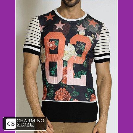 Camiseta Flor Numeral