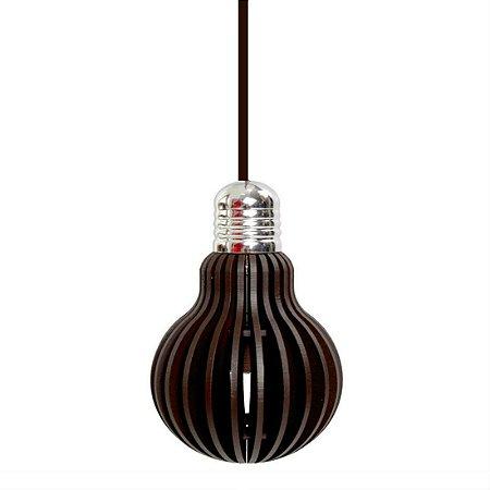 Pendente em Forma de Lâmpada Edison  - Cor Café  ( Lâmpada 110 Volts Brinde) PROMOÇÃO