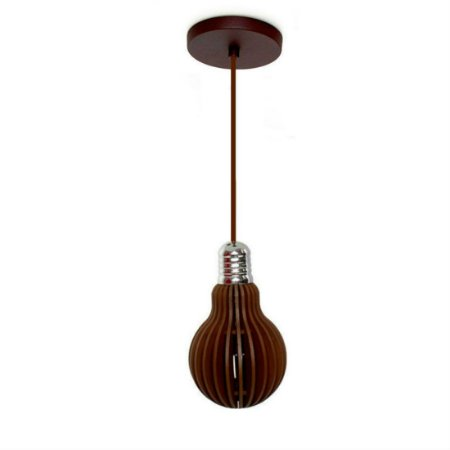 Pendente em Forma de Lâmpada Edison  - Cor Tabaco  ( Lâmpada 110 Volts Brinde) PROMOÇÃO