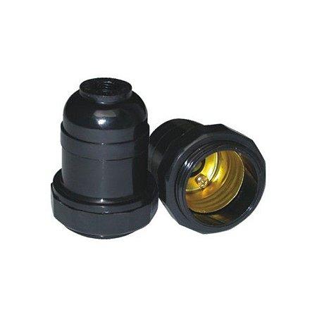 Soquete de Plástico E27 Para Coluna ou Abajur - Caixa com 50 Peças - Marca: Radial