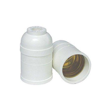 Soquete de Plástico E27 Para Lustre - Caixa com 50 Peças - Marca: Radial