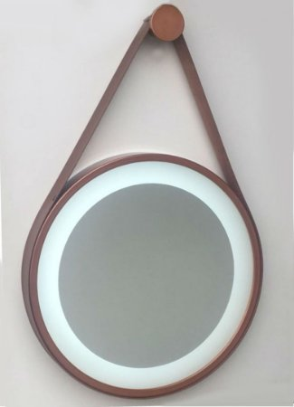 Espelho Adnet Jateado Com Led De 50 Cm - Brendalux
