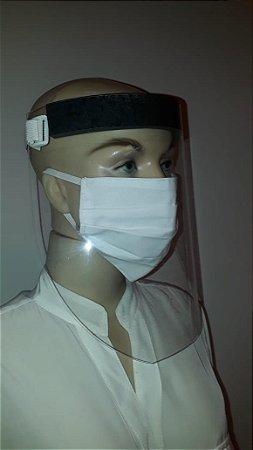 Kit 10 Protetores Facial + 10 Protetores De Pano Lávavel
