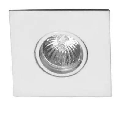 Spot de Embutir Quadrado - Sistema Click p/ Lâmpada GU10 - Teto