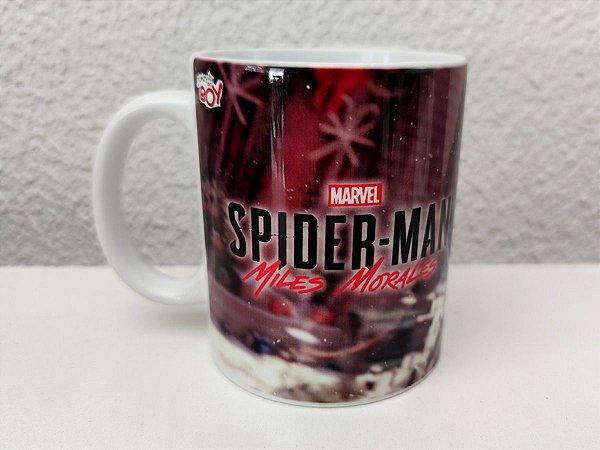 Caneca Spiderman Miles Morales PS5 325ml Porcelana