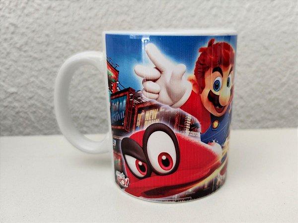 Caneca Super Mario Odyssey 325ml Porcelana