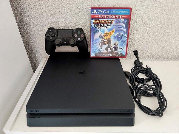 Playstation 4 Slim 1Tb Seminovo Com 1 Jogo