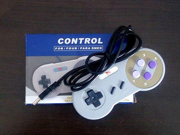 Controle Super Nintendo Usb Para Computador - Novo