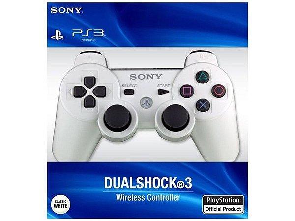 Controle Dualshock 3 Sem Fio Branco 90% Original Novo