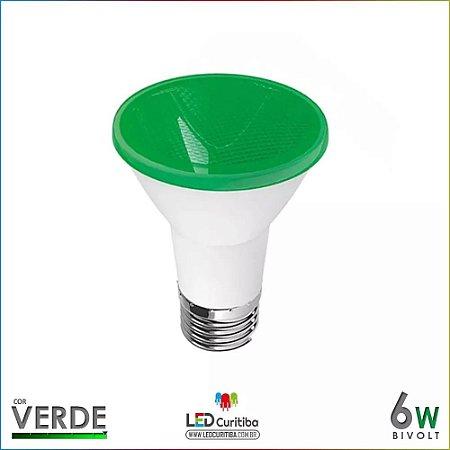 Lampada De Led Para Jardim Par20 Verde 6w Bivolt E27 Ip65