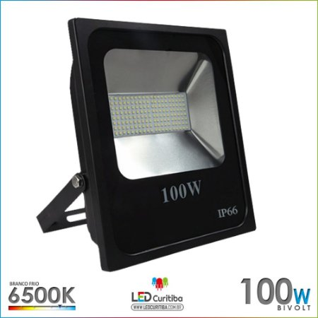 Refletor de Led 100w Holofote Multiled IP66 6500k Branco Frio Bivolt