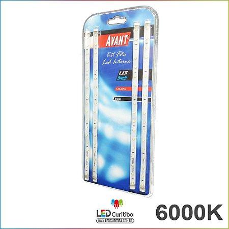 Kit Fita Led Para Cabeceiras 6000k Branco Frio 12v 1,2m+fonte