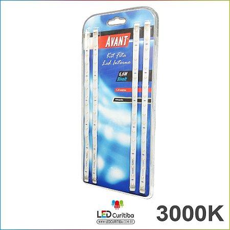 Kit Fita Led Para Cabeceiras 3000k Branco Quente 12v 1,2m+fonte