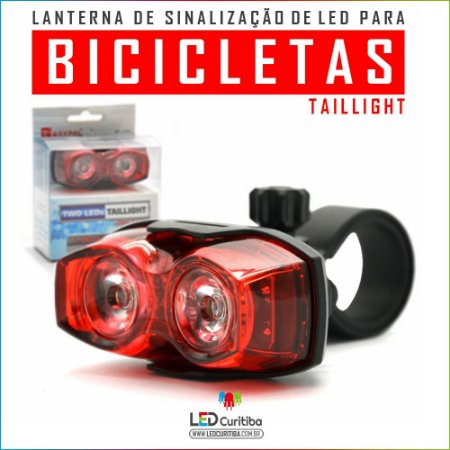 Sinalizador Traseiro Para Bicicletas, Pisca Alerta Para Bike
