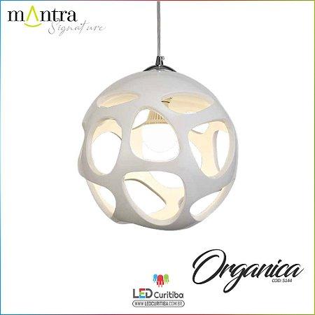Pendente Organica Polímero Branco (5140/5144) 1/3 Apoios E27 20w