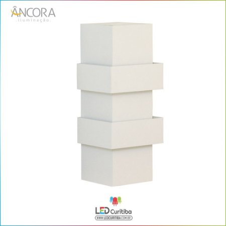 Arandela #101 Branca Interna / Externa 1 Lampadas G9 100x100x210mm - Halopin 40w / 3w Led