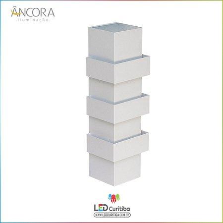 Arandela #102 Branca Interna / Externa 3 Lampadas G9 100x100x420mm - Halopin 40w / 3w Led