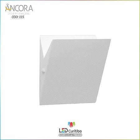 Arandela #115 Branca Interna / Externa 2 Lampadas G9 180x150x40mm - Halopin 40w / 3w Led