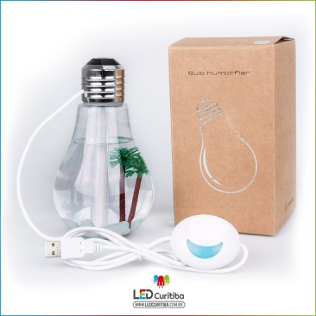 Lampada Humidificadora de Ar Led Lampada Aromatizante USB