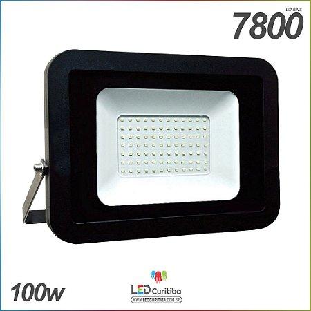 Holofote Refletor Slim 100w Externo a Prova D'água IP65 7800 lúmens Bivolt