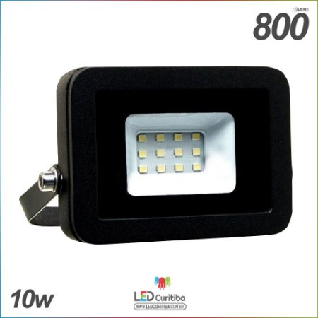 Holofote Refletor Slim 10w Externo a Prova D'água IP65 2100 lúmens Bivolt