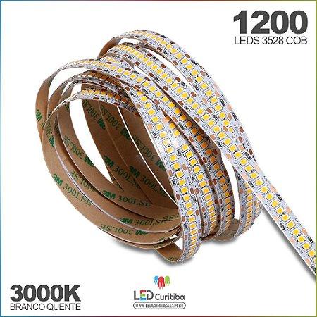 Fita de Led SMD 3528 1200leds - 240leds/m 12v 3000k branco quente IP20