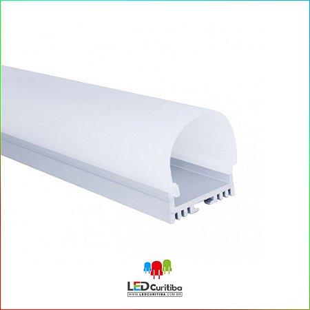 Perfil de Sobrepor-Pendente Redondo para LED em Alumínio EKPF81