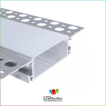 Perfil NO FRAME-Embutir para Led em Alumínio EKPF95