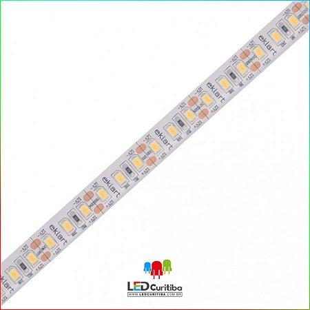 Fita LED 10W/m 3528 120Leds/m – IP68 Interno/Externo 12v 1000 Lúmens Blindada