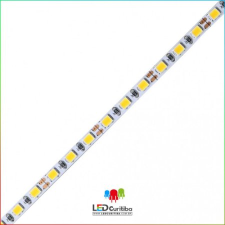 Fita LED 2835 120Leds/m 10W/m 4MM 12V IP20 Interno 12v - 1000 Lúmens
