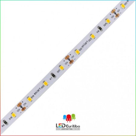 Fita LED 2835 120Leds/m 10W/m 4MM 12V IP20 Interno 12v - Ambar 1000 Lúmens