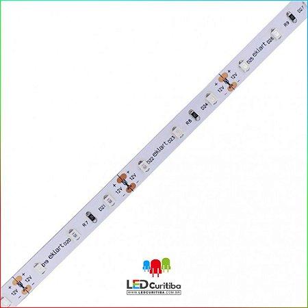 Fita LED 2835 120Leds/m 10W/m 4MM 12V IP20 Interno 12v - Azul