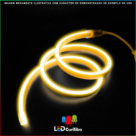 Fita LED NEON 8W 2700K - IP65 Interno/Externo 24v - Flexível Amarelo 3000K 2700K
