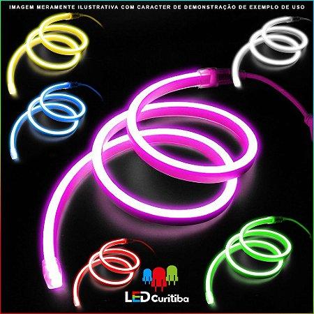 Fita LED NEON 8W RGB - IP65 Interno/Externo 24v - Flexível Colorido 16 Cores