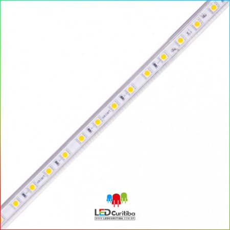 Fita LED Plug&Play 10W/m 5050 60Leds/m – IP66 – Interno/Externo 127v