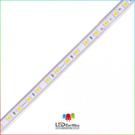 Fita LED Plug&Play 15W/m 5730 60Leds/m – IP66  Interno/Externo 127v 1280 Lumens