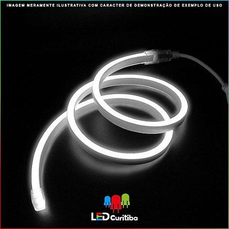 Fita LED NEON 8W 4000K - IP65 Interno/Externo 24v Flexível Branco 6000K Branco Frio