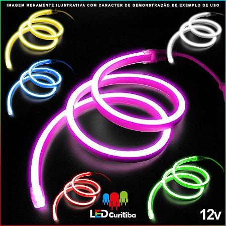 Mangueira de Led Neon Flexível RGB 12v SMD 5050 8W IP66 Interno/Externo