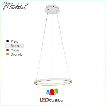 Pendente Montreal LED 20W-1258lm-3000K
