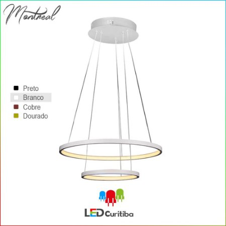 Pendente Montreal LED 25W+15W-2254lm-3000K