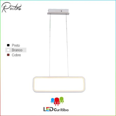 Pendente Recto LED 26W-118lm-3000K